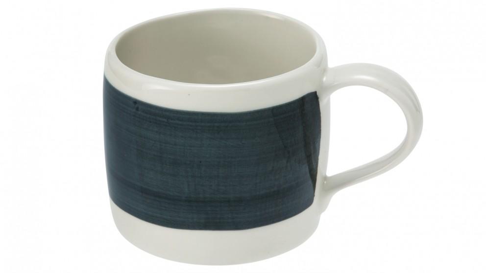 Abstract Stripe Mug - Black and White