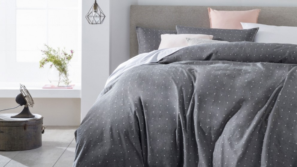 Chambray Cross Quilt Cover Set