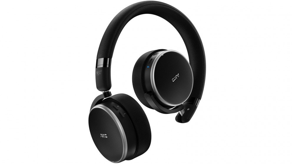 AKG N60 NC Wireless Noise Cancelling On-Ear Headphones - Black