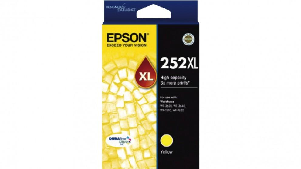 Epson 252XL High Capacity DURABrite Ultra Ink Cartridge - Yellow