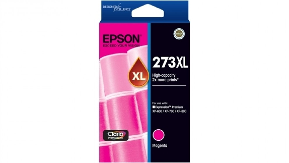Epson 273XL High Capacity Claria Premium Photo Ink Cartridge - Magenta