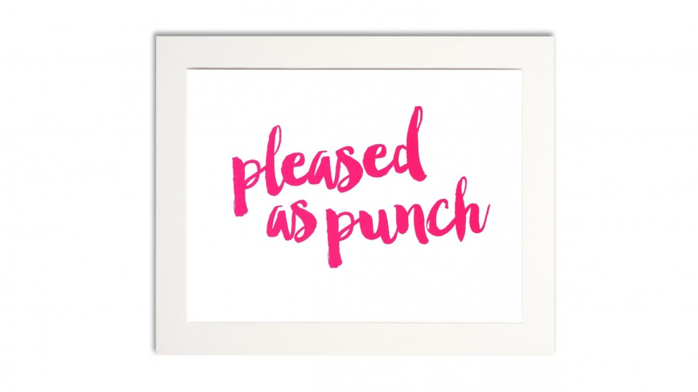 Pleased As Punch Pink Print