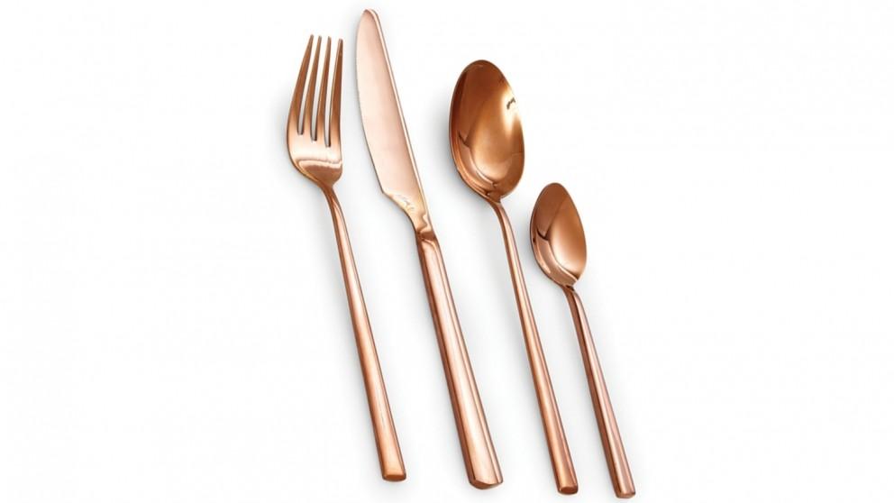 Salt & Pepper Host 16 Piece Cutlery Set - Rose Gold