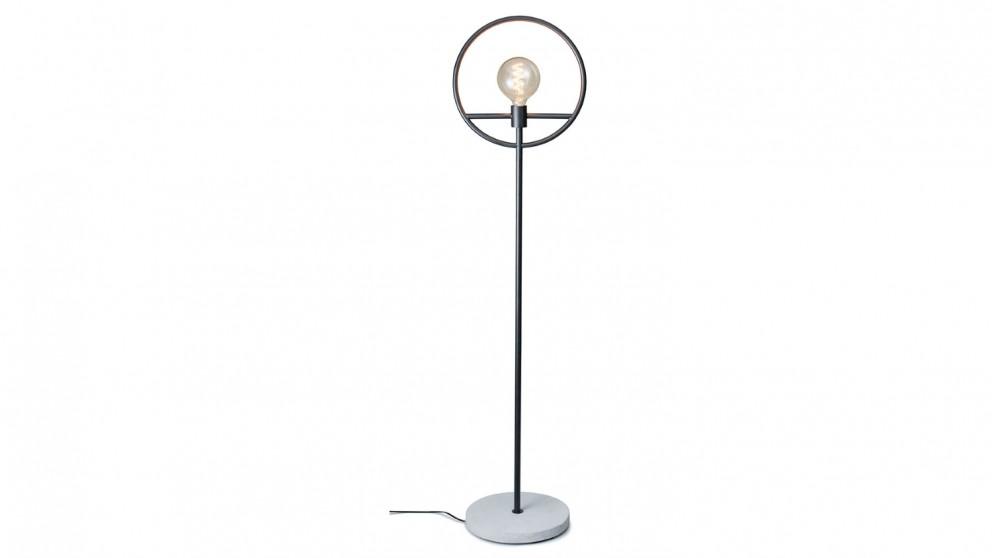 Salt & Pepper Georgia Floor Lamp - Black