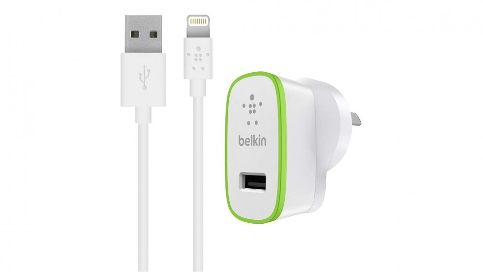 Belkin Boost Up 2.4Amp Home Charger with Lightning ChargeSync Cable - White