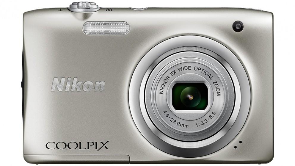 Nikon Coolpix A100 Digital Camera - Silver