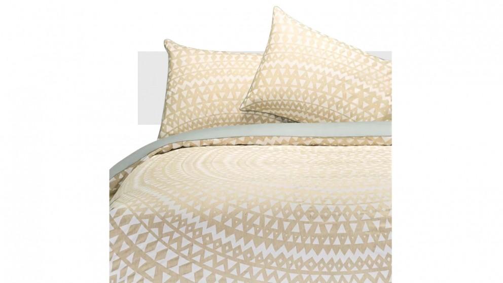 Aura Inca Quilt Cover Set - Marshmallow