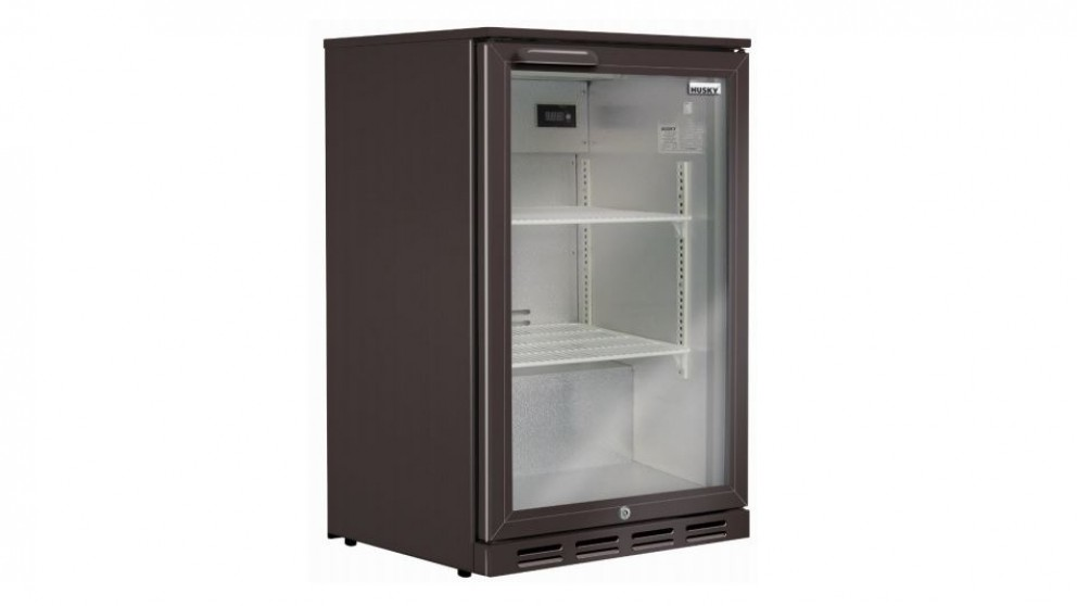 Husky 118L Single Door Back Bar Fridge - Black