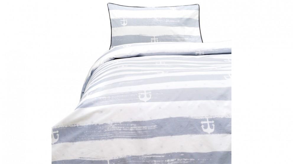 Linen House Bon Voyage Quilt Cover Set - Blue