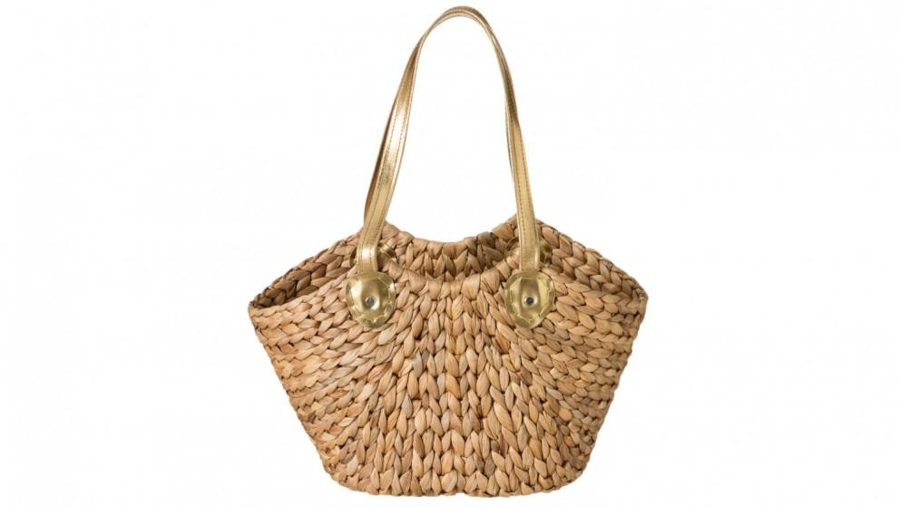 Robert Gordon Upmarket Lane Basket - Natural/Gold