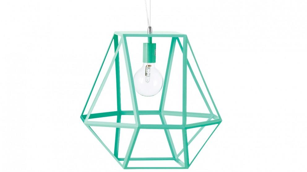 Hex Medium Pendant Light - Mint