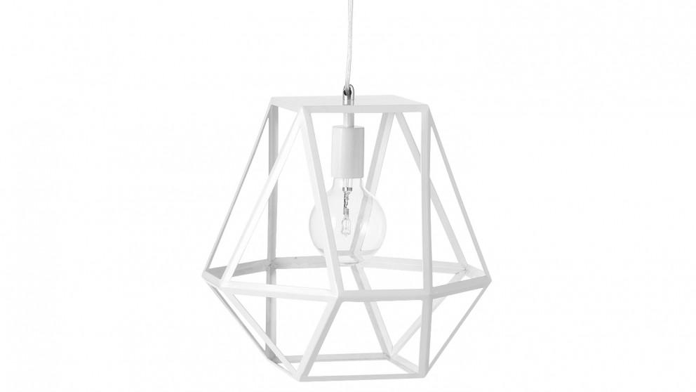 Hex Medium Pendant Light - White