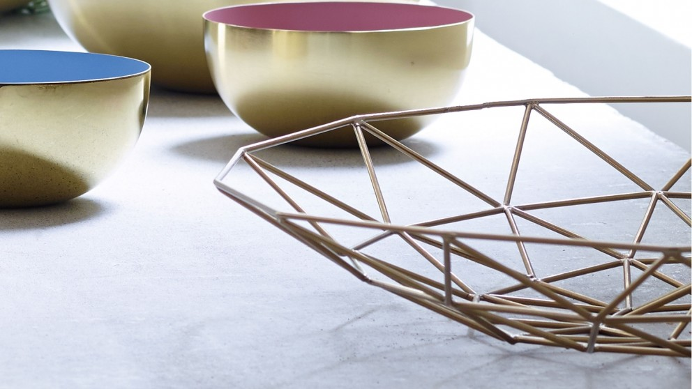 Space Large Platter - Brass