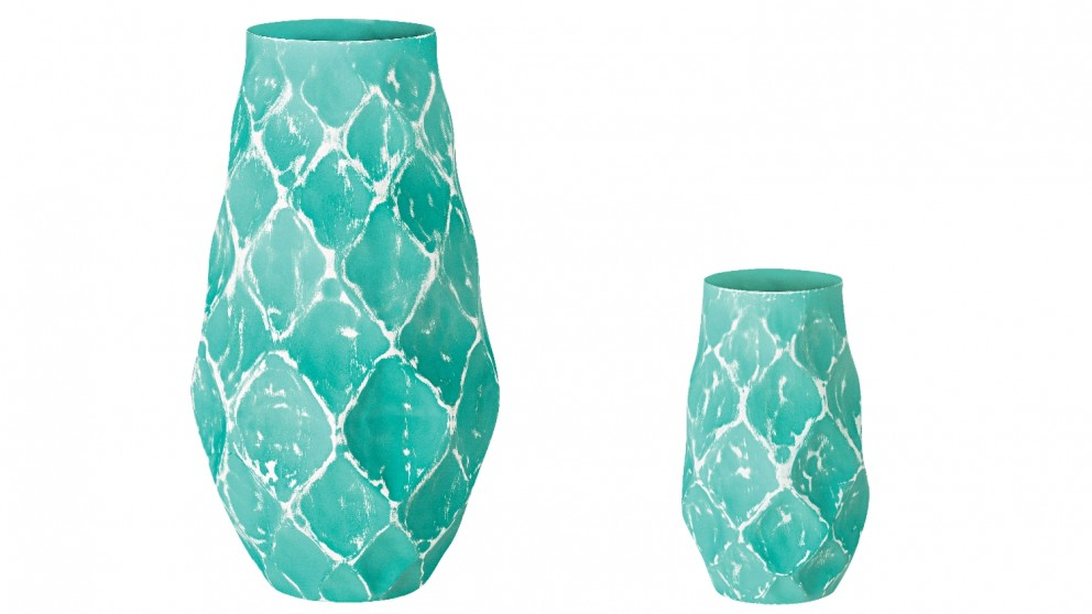 Structure Round Vase Blue