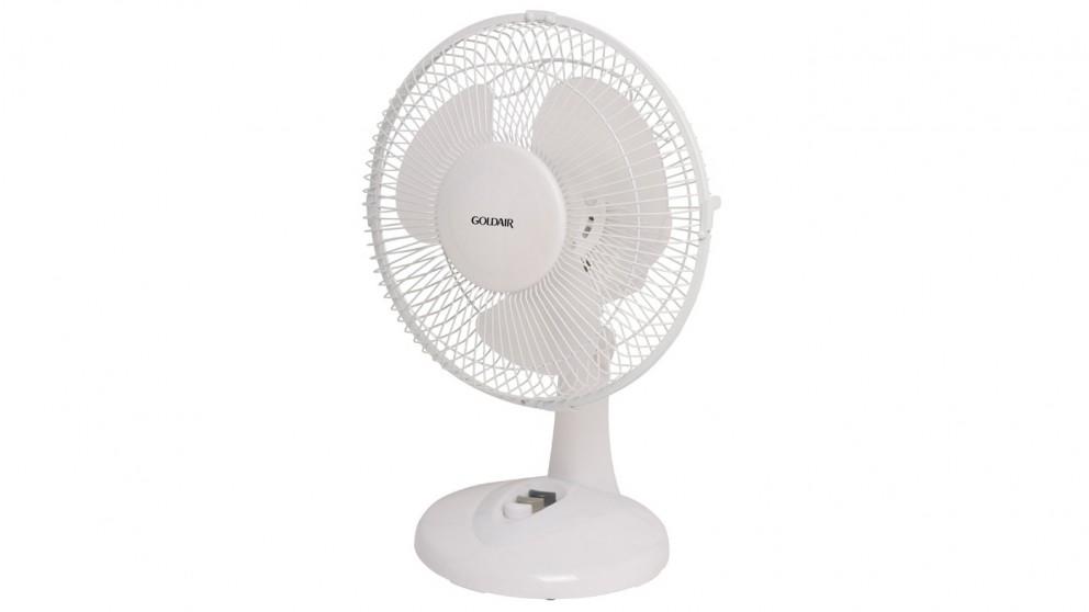 Goldair 23cm Oscillating Desk Fan