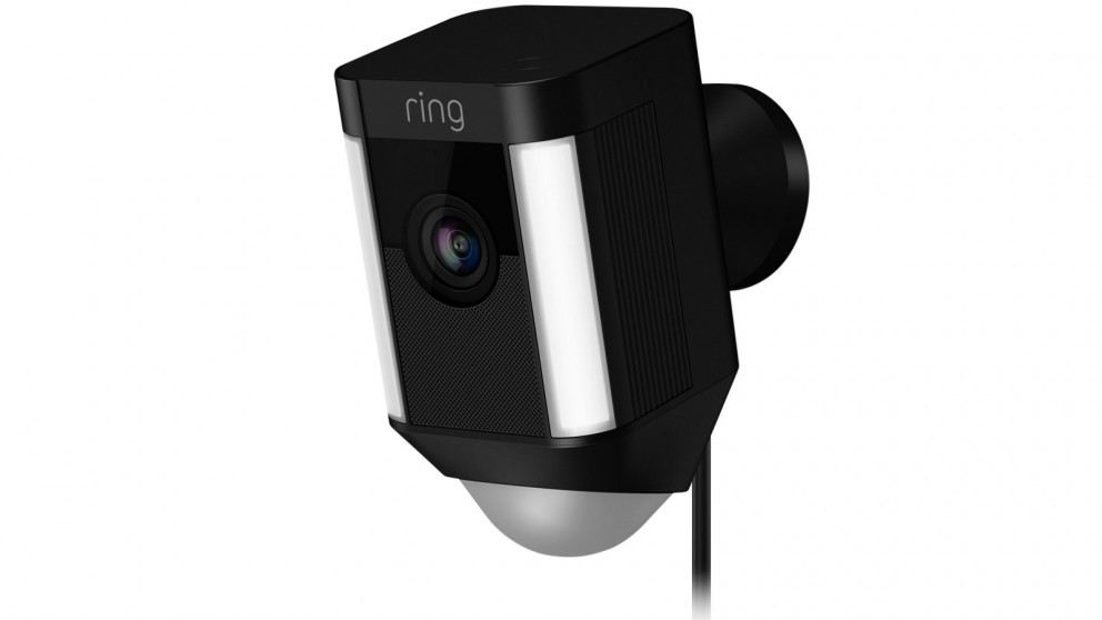 Ring Spotlight Cam Wired Security Camera - Black