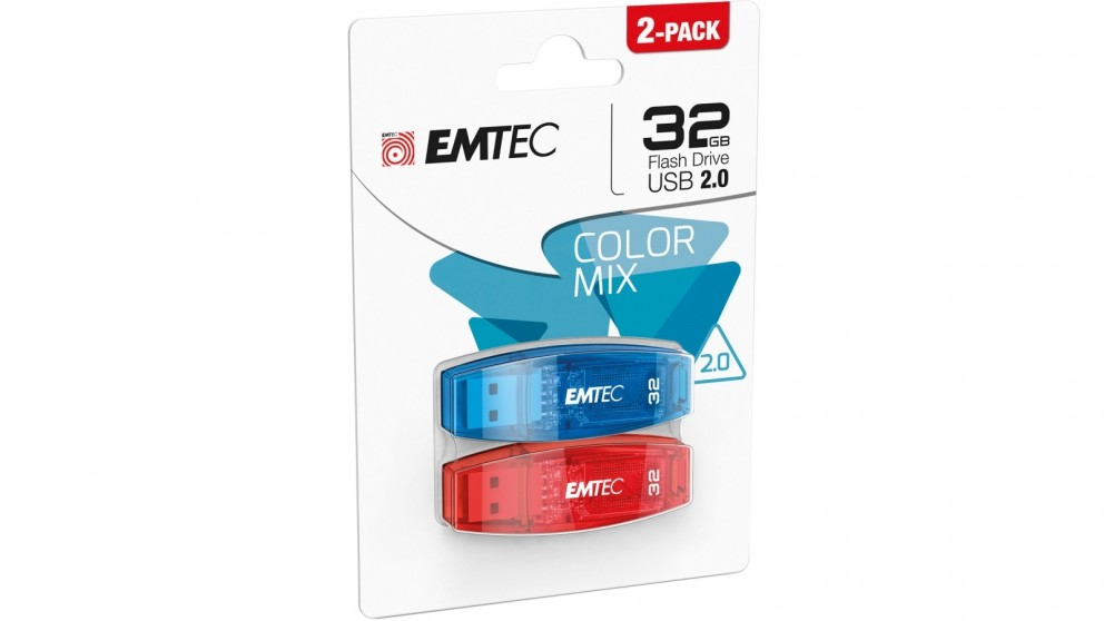 Emtec C410 Twin Pack 32GB USB 2.0 Flash Drive