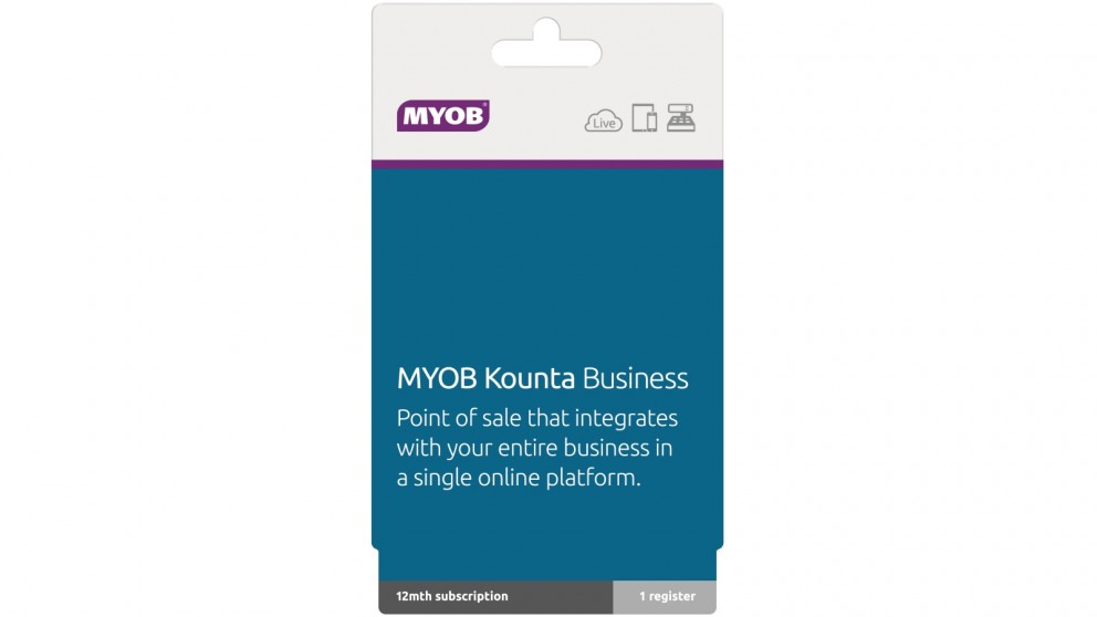 MYOB Kounta Business Software - 1 Year Subsription for 1 Register