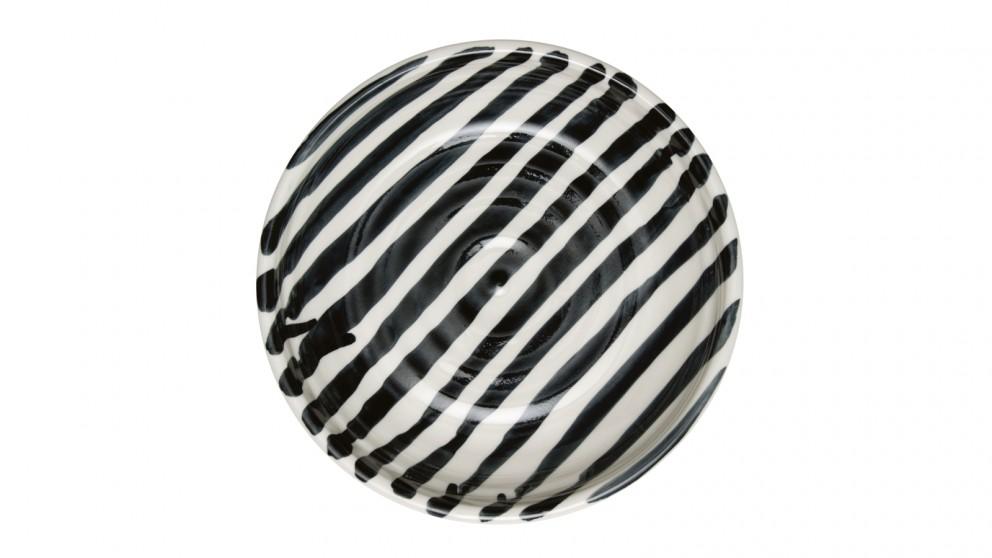 Abstract Stripe Bowl - Black/White
