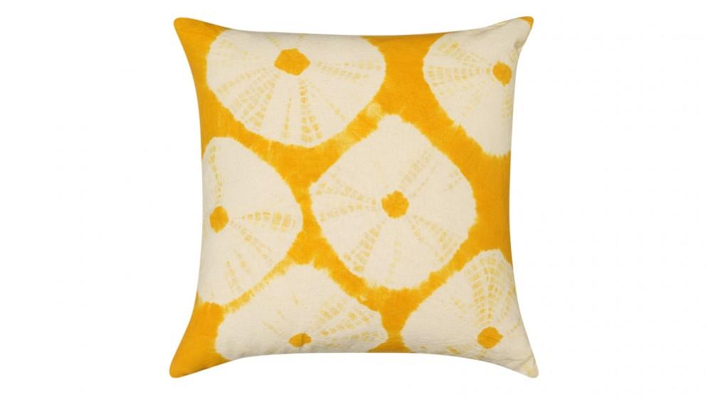 Arrow Tie Dye Large Cushion - Acid Yellow