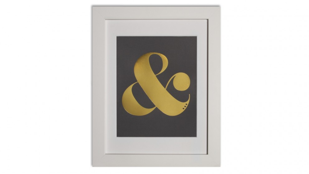 Ampersand Print in Charcoal