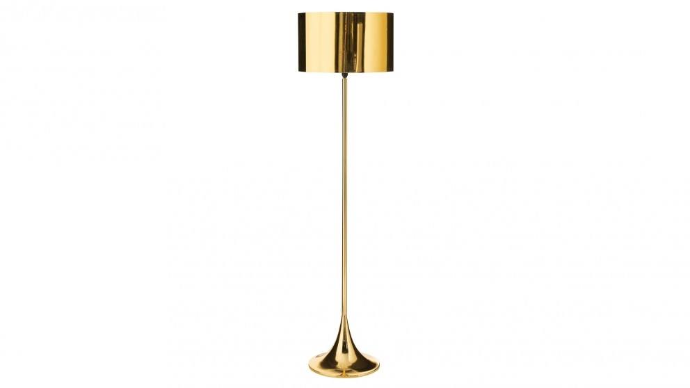 Buy Beaker Gold Floor Lamp Domayne Au