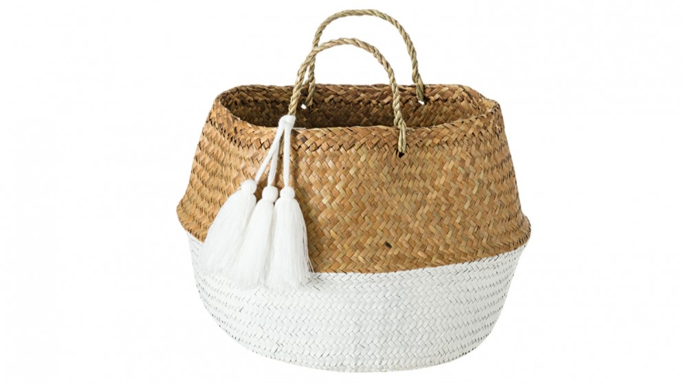Belly Basket with Tassels