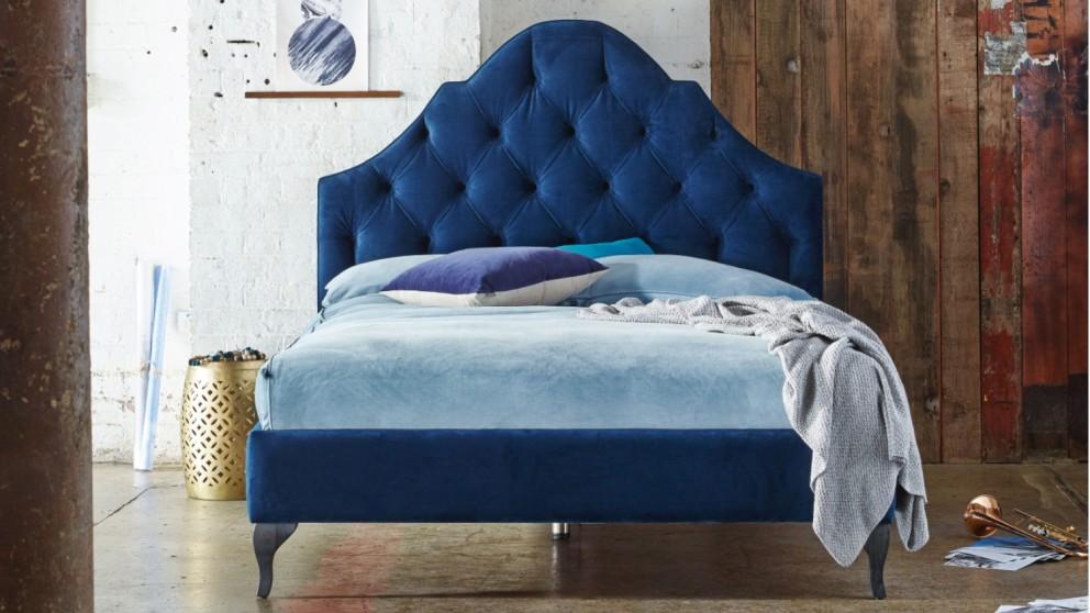 Bordeaux Bed Frame Queen Domayne Au, Queen Velvet Bed Frame