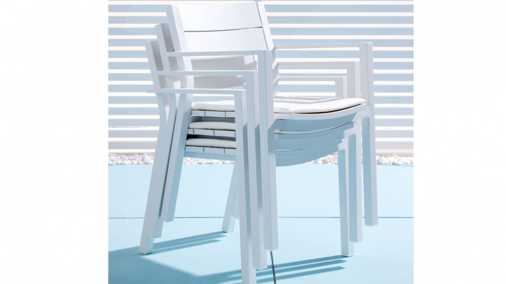 Piano Carver Dining Chair White