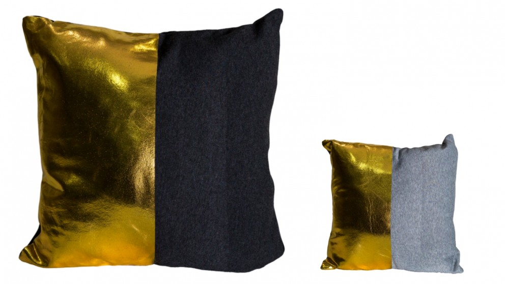 Gold Dipped Square Cushion
