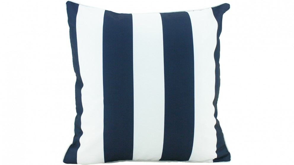 Stripe Piped Outdoor Cushion - Navy