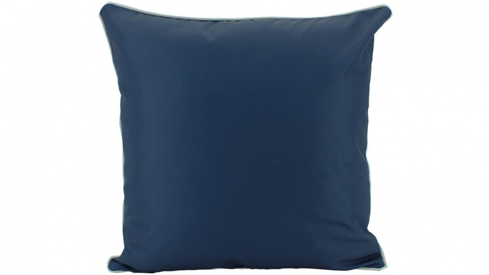 Plain Piped Outdoor Cushion - Navy