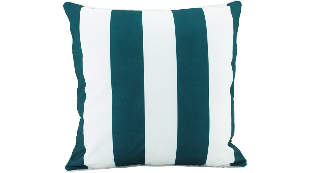 Stripe Piped Outdoor Cushion - Green