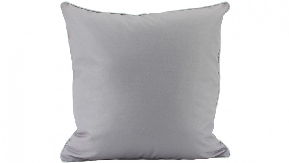 Plain Piped Outdoor Cushion - Grey