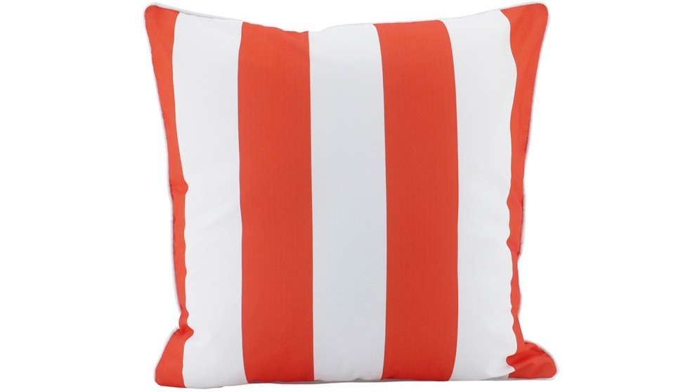 Stripe Piped Outdoor Cushion - Orange