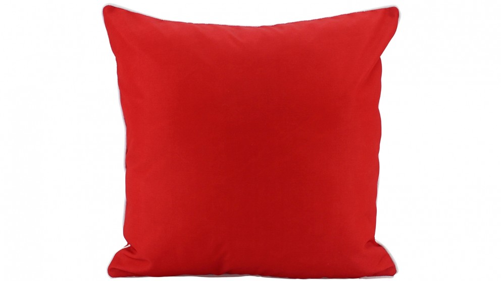Plain Piped Outdoor Cushion - Red
