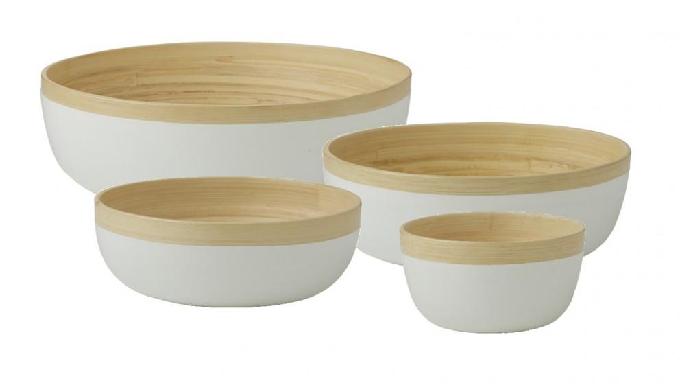 Stockholm Bamboo Bowl Range White