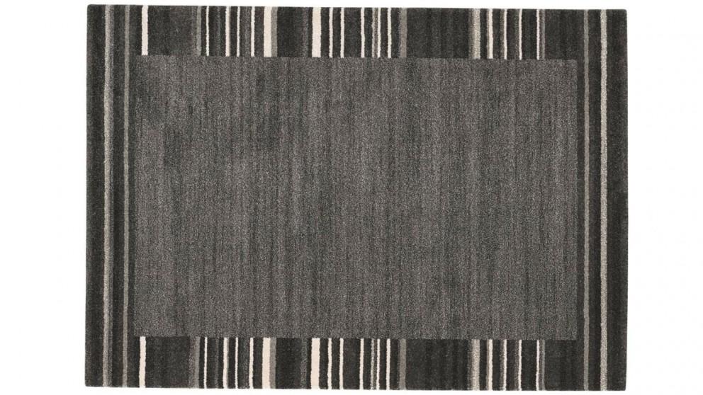 Elegance Border Rug - Charcoal