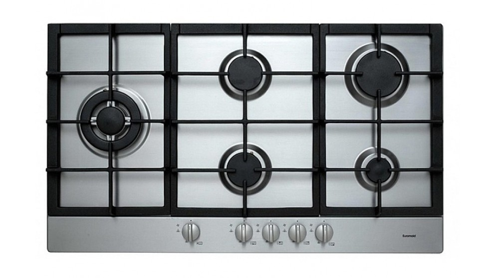 Euromaid 900mm Gas Cooktop - Stainless Steel