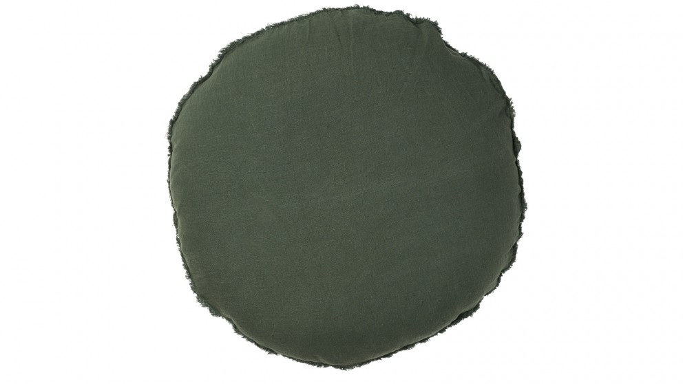 Lulu Round Cushion - Khaki
