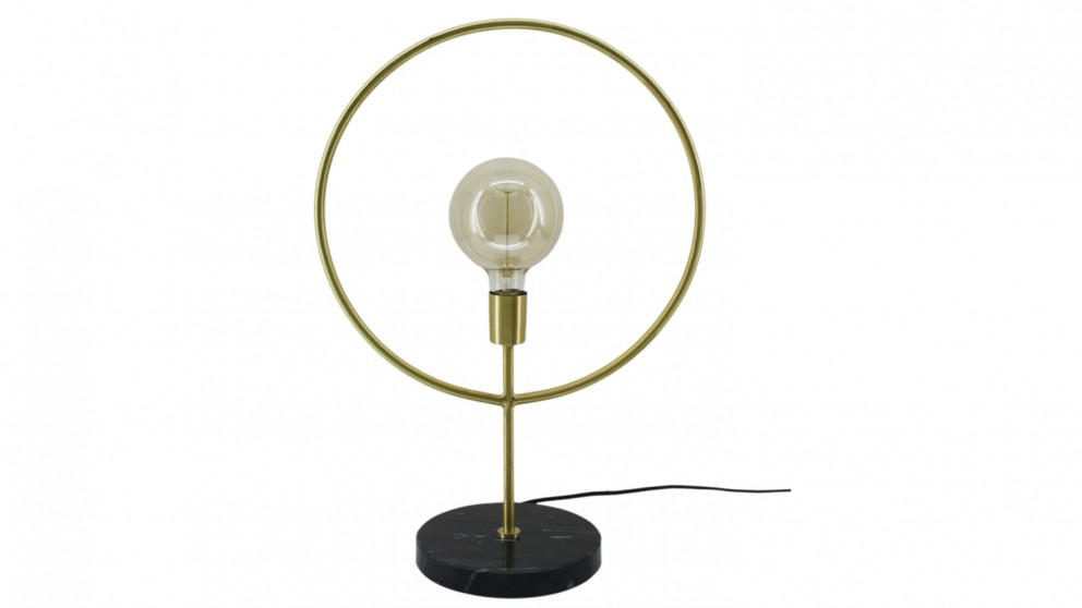 Geometric Table Lamp - Black/Gold