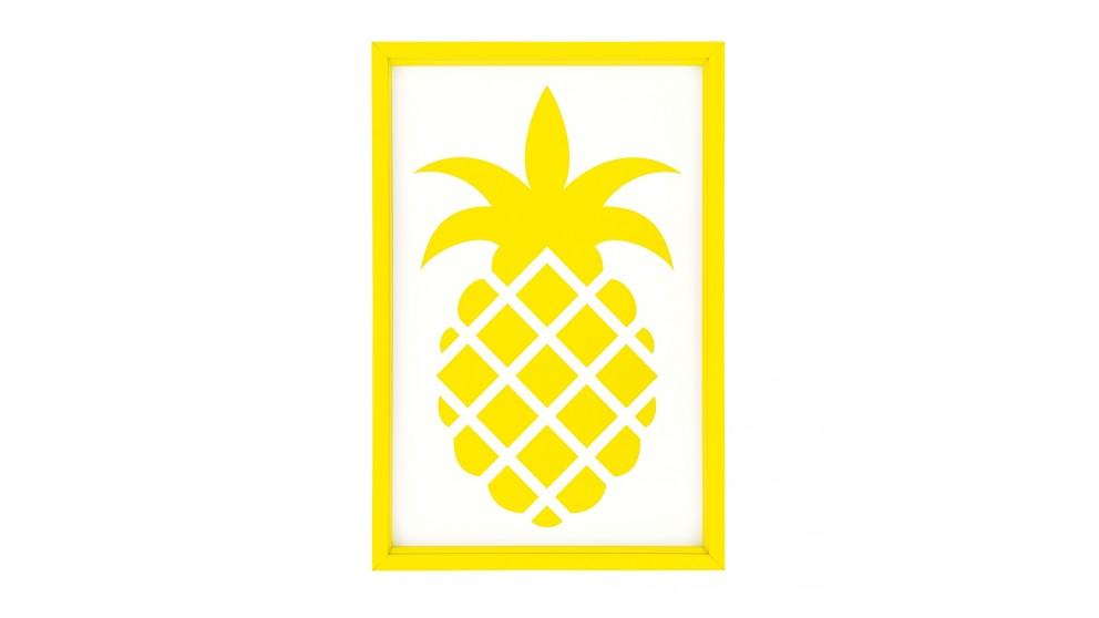 Yellow Pineapple Print