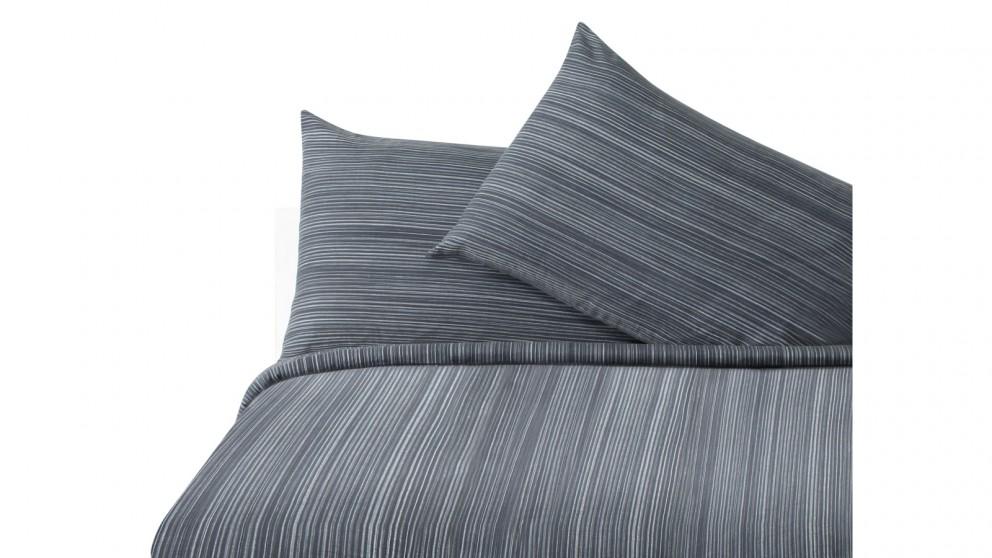 Luca Quilt Cover Set - Grey