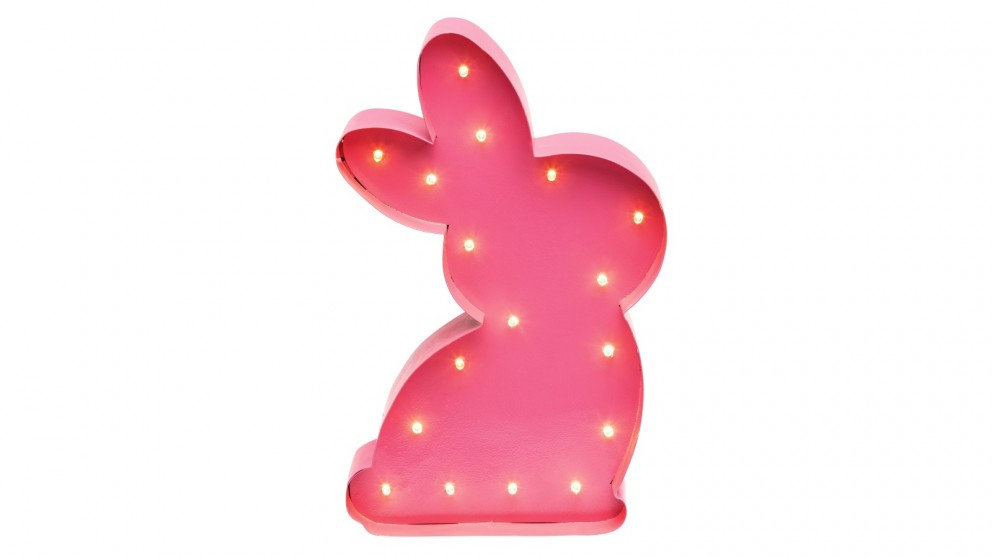 Bunny Marquee Light - Pink