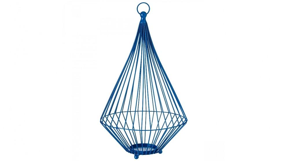 Hanging Wire Lantern - Blue