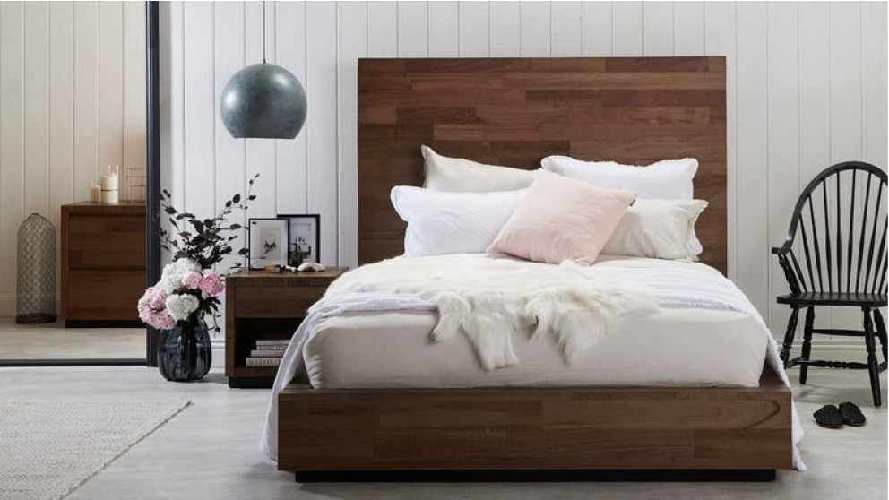 javier bed frame with 1 5m bedhead uber king