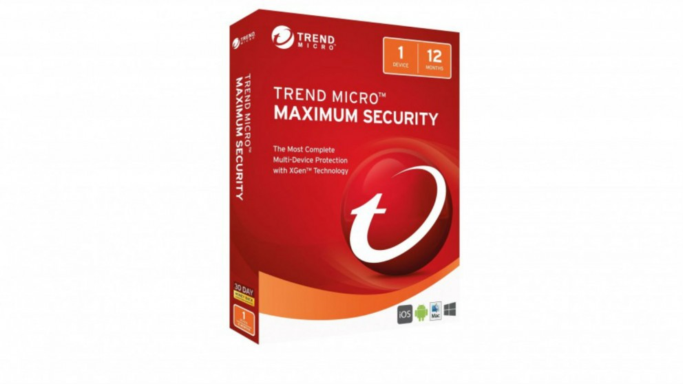 Trend Micro Maximum Security Software Download - 1 Year for 1 Device