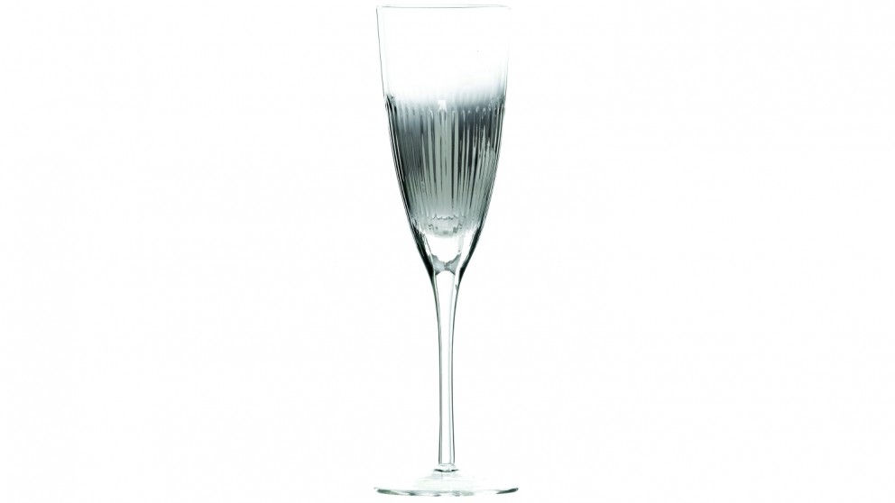 Chin Chin Ribbed Champagne Flute - Silver