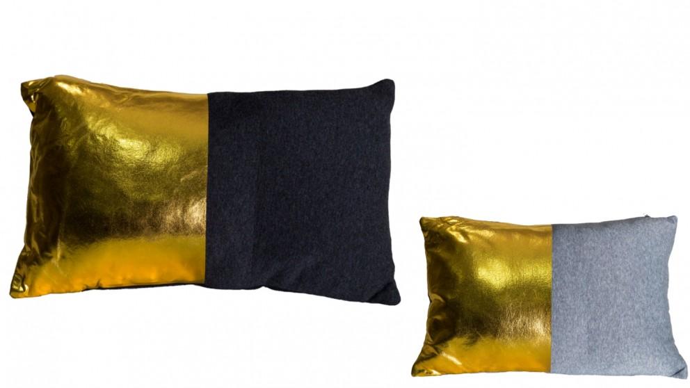 Gold Dipped Rectangular Cushion