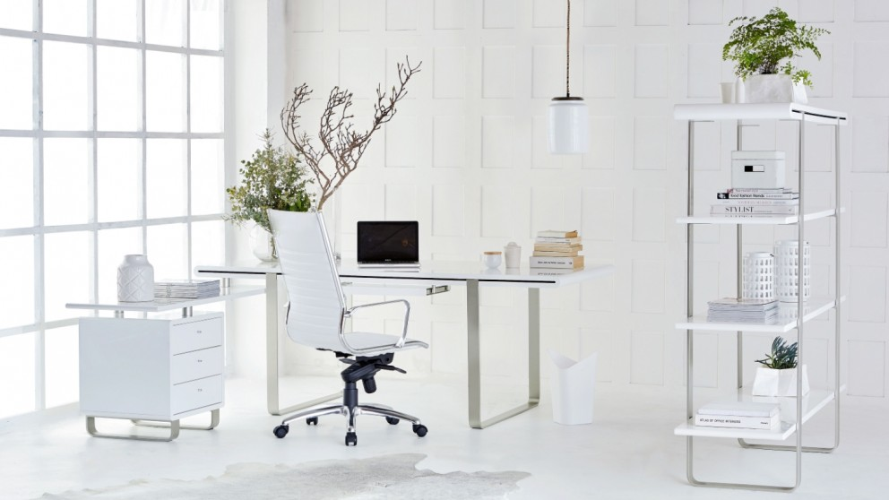 Loren Desk with Return and 3-Drawer Cabinet